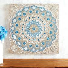 capiz wall art mosaic shell metal eloquence bloom flower