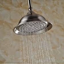 Us 442 32 Offgebürstet Nickel 8 Runde Regen Dusche Kopf Mit Decke Montiert Dusche Arm In Gebürstet Nickel 8 Runde Regen Dusche Kopf Mit Decke