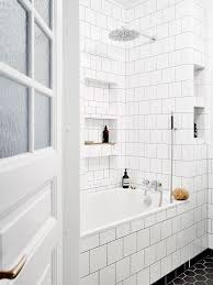 Tiles, White Tile Bathrooms White Tile Shower With Accent Grey Modern Ideas  Luxury Marvelous Clean