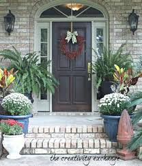 Fall Wreaths Front Door Diy For To Make Ideas Fluffing Porch The ...