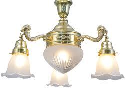pendant lamp with tulip glasses erlau ii von art nouveau lamps image 8 messing