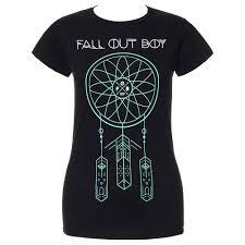 Dream Catchers Band Fall Out Boy Dreamcatcher Skinny T Shirt Black Music Stuff 69