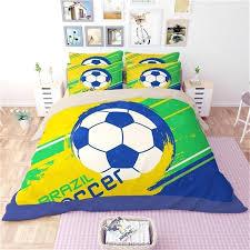 soccer bedding new kids soccer bedding set football pattern printed duvet cover pillowcase twin full queen