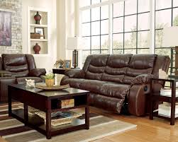 ashley leather living room furniture. Benchcraft By Ashley Linebacker DuraBlend - Espresso Contemporary Reclining Sofa With Pillow Arms | A1 Furniture \u0026 Mattress Leather Living Room