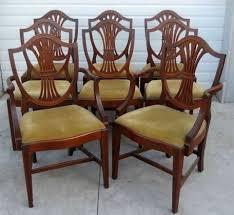 hepplewhite shield dining chairs set: mahogany dining chairs federal hepplewhite style set of