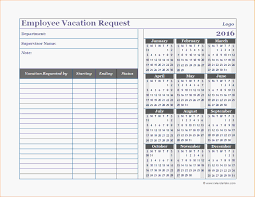 Vacation Calendar Template Vacation Calendar Template24 Business Employee Vacation Request 24
