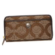 Coach Logo Signature Large Coffee Wallets EEO Brown · Coach In Signature  Large Brown Wallets CJR ...