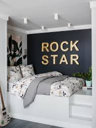 great small bedroom ideas. small contemporary dark wood floor and gray bedroom idea in moscow with black walls great ideas