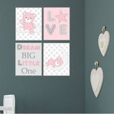 teddy bear nursery wall art prints