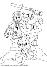 Lego Star Wars Yoda Coloring Pages