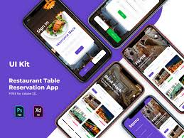 Table Reservation Template Adobe Xd App Ui Kit Restaurant Table Reservation App