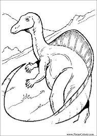 Tekeningen Te Schilderen Kleur Dinosaur Print Design 044