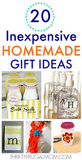 inexpensive easy homemade gift ideas