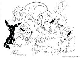 Pokemon Coloring Pages Mega Venusaur Swampert Eevee Evolutions