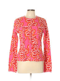 Details About Oilily Women Pink Long Sleeve Top Xl