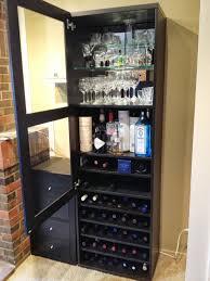 Alcohol Cabinet Besta Wine Rack And Liquor Cabinet Ikea Hackers Bloglovin