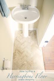 always wanted a herringbone tile floor but thought it might be too difficult to do yourself