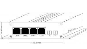 bnc port 4 rj45 ports ethernet over coaxial extender 2km as slave 1 bnc port 4 rj45 ports ethernet over coaxial extender 2km as slave