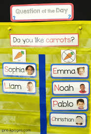 Preschool Charts And Graphs Question Of The Day In Preschool