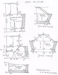Blouse Measurement Chart Drafting And Cutting Procedures Of The Womens Saree Blouse
