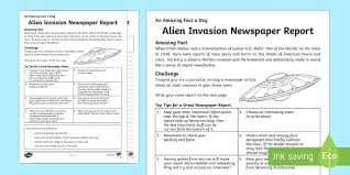 Newspaper Report Template News Ks2 Script Example Mymuso Co
