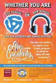 Kisscut Design Kiss Cut Stickers Laser Image Printing Marketing