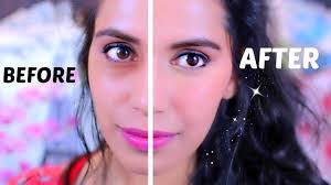 how to mask dark under eye circles with orange lipstick makeup tutorial himani wright lets learn makeup