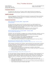Resume Samples For Experienced Banking Professionals Best Personal