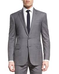 Light Grey Suit At Night Ralph Lauren Anthony Two Piece Sharkskin Suit Light Gray