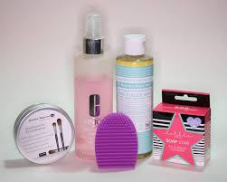 makeup brush cleansers clinique dr bronner makeup revolution lotte london barbara