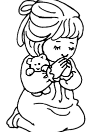 Small Picture free coloring page for praying little girl Little girl praying