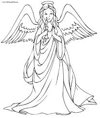 Angel Coloring Pages Getcoloringpagescom