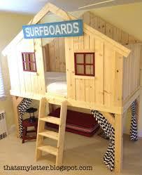 kids bunk beds diy. Brilliant Beds Surf Shack Clubhouse Loft Bed Diy Kids Intended Kids Bunk Beds Diy