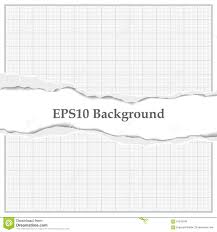 Graph Paper With Torn Mid Stock Vector Illustration Of