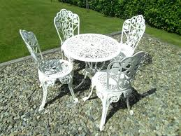cast iron patio furniture garden table vintage and chairs