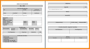 Formato De Minuta En Excel 7 8 Formato Minuta Italcultcairo Com