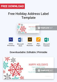 Holiday Address Label Templates Free Holiday Address Label Label Templates Designs 2019