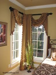 Window Coverings Living Room Corner Window Treatment Idea But Could Do This On A Long Window