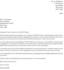 Teacher Resignation Letter Template Sample Resume Letter Sample