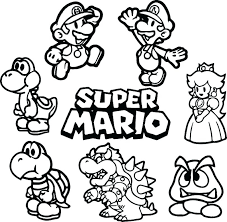 Coloring Pages Mario Brothers Free Colouring Pages Free Coloring