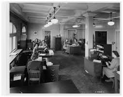 Genral Office Employees In The Collins Canada General Office Circa 1940s