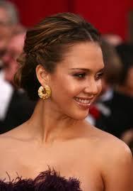 Jessica Alba Updo Hairstyles Jessica Alba Th Annual Academy Awards Arrivals Lo Updo Cloudpix
