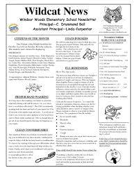 Sample School Newsletter Free Education Back To School Newsletter