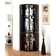 corner curio cabinet furniture of corner curio cabinet in cappuccino used corner curio cabinet for