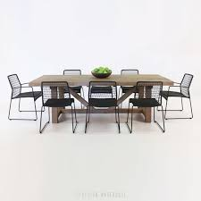trestle table and edge chairs outdoor dining set 0