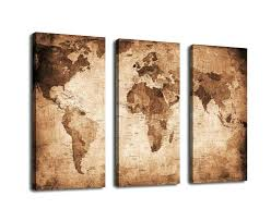 wood map wall art 3 panel large world map pictures print on canvas world map wood on diy map panel wall art with wood map wall art 3 panel large world map pictures print on canvas