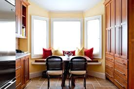 kitchen bay window ideas traditional with breakfast bar treatments living room