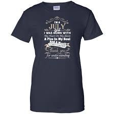 Iuly Size Chart I Am A July Girl Birth Day T Shirt Gift