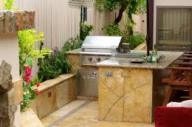 Outdoor Kitchen Refrigerator Kitchen Style Stone Countertops Small Refrigerator Barbecue