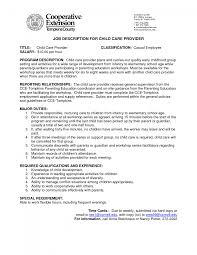 resume adorable child care provider job description resume format care assistant responsibilitiescare assistant responsibilities large size child development resume